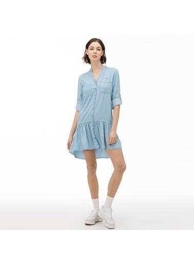 Lacoste Kadın Uzun Kollu Elbise EF0015.15M Mavi